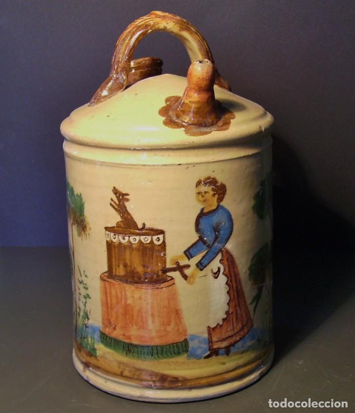 Antigüedades: GRAN BOTIJO CERÁMICA DE MANISES XIX - XX - Foto 4 - 171626290