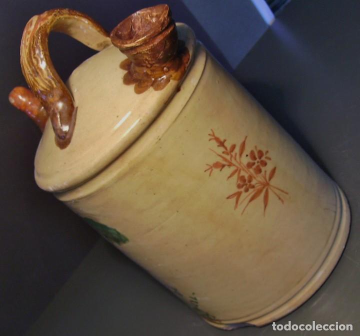 Antigüedades: GRAN BOTIJO CERÁMICA DE MANISES XIX - XX - Foto 6 - 171626290
