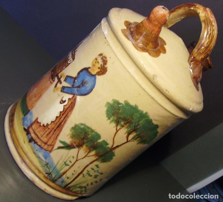 Antigüedades: GRAN BOTIJO CERÁMICA DE MANISES XIX - XX - Foto 7 - 171626290