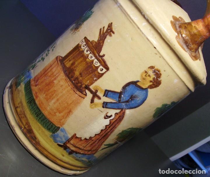 Antigüedades: GRAN BOTIJO CERÁMICA DE MANISES XIX - XX - Foto 11 - 171626290