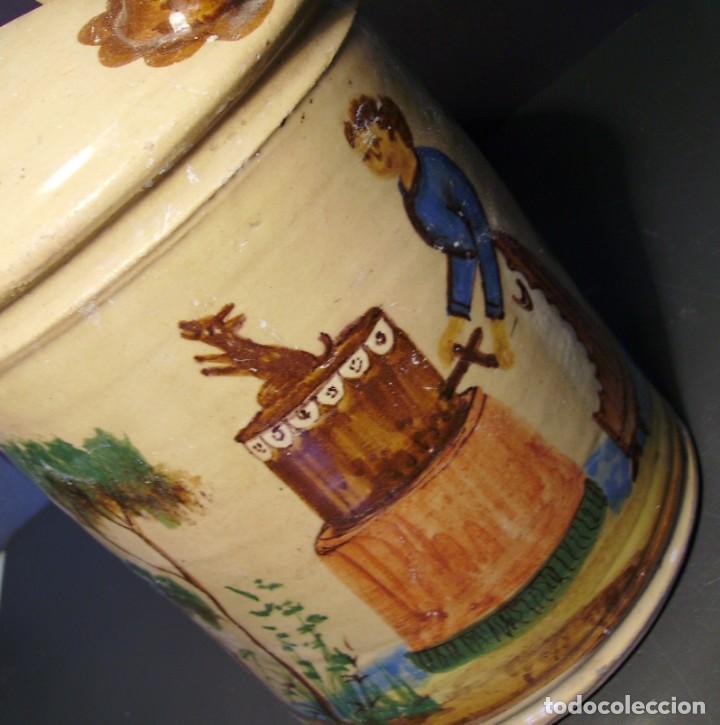 Antigüedades: GRAN BOTIJO CERÁMICA DE MANISES XIX - XX - Foto 12 - 171626290