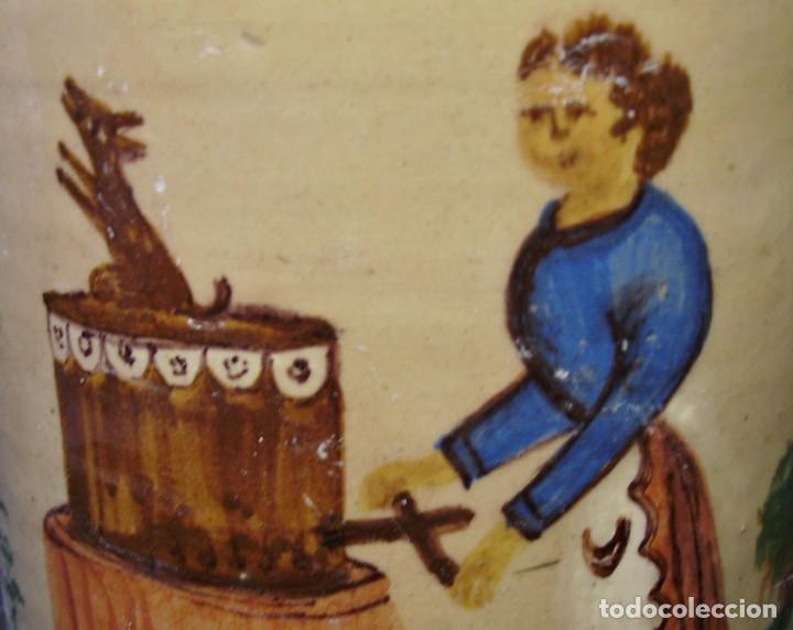 Antigüedades: GRAN BOTIJO CERÁMICA DE MANISES XIX - XX - Foto 18 - 171626290