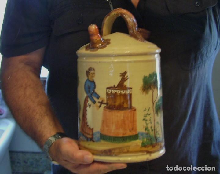 Antigüedades: GRAN BOTIJO CERÁMICA DE MANISES XIX - XX - Foto 22 - 171626290