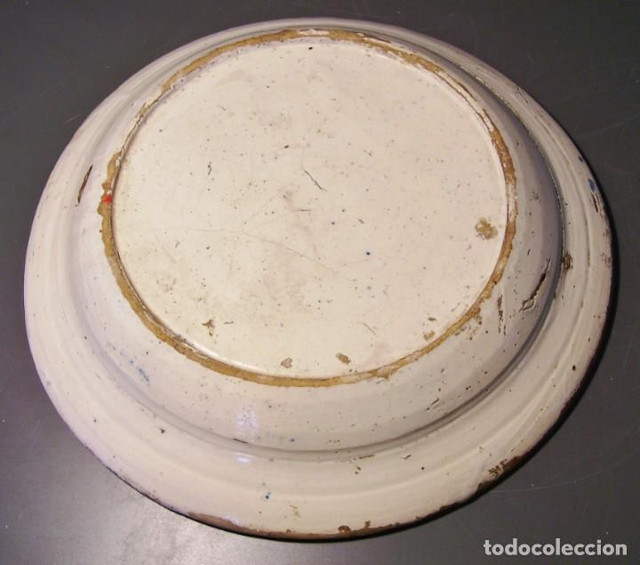 Antigüedades: GRAN PLATO CERÁMICA DE TRIANA XIX - Foto 13 - 171626644