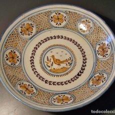 Antigüedades: GRAN PLATO CERÁMICA DE TALAVERA XIX . Lote 171627850