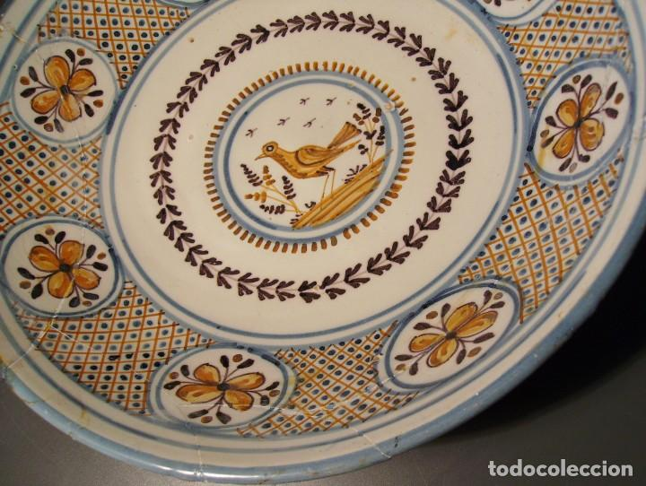 Antigüedades: GRAN PLATO CERÁMICA DE TALAVERA XIX - Foto 6 - 171627850