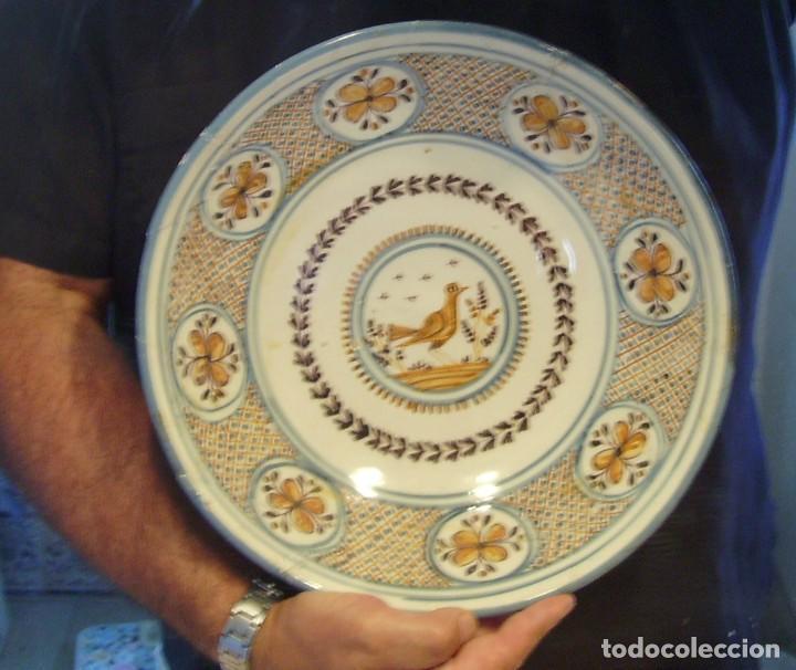 Antigüedades: GRAN PLATO CERÁMICA DE TALAVERA XIX - Foto 18 - 171627850