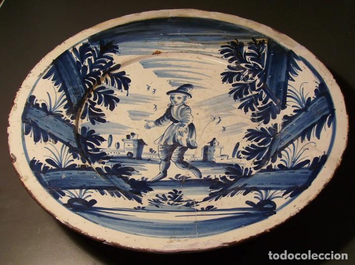 Antigüedades: ROTUNDO Y GRAN PLATO DE CERÁMICA CATALANA XVIII - Foto 3 - 171627918