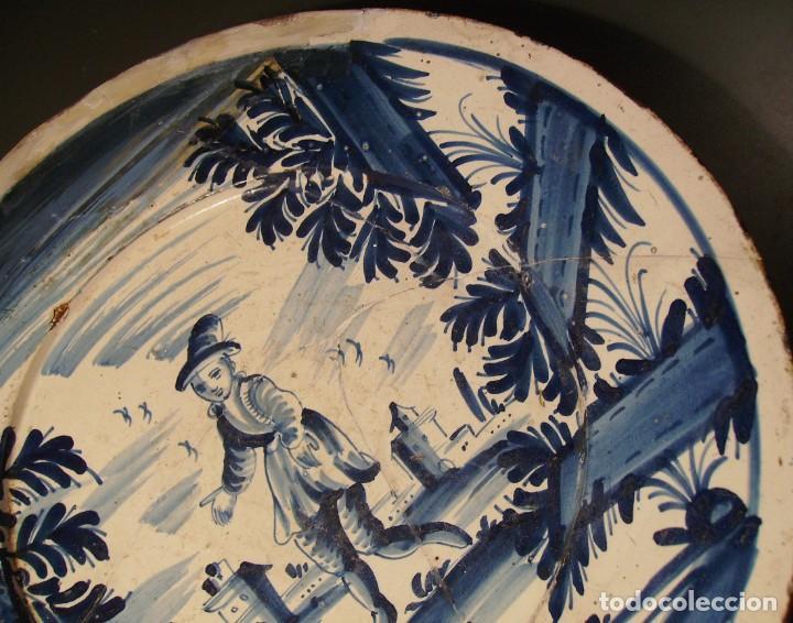 Antigüedades: ROTUNDO Y GRAN PLATO DE CERÁMICA CATALANA XVIII - Foto 6 - 171627918