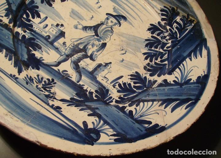 Antigüedades: ROTUNDO Y GRAN PLATO DE CERÁMICA CATALANA XVIII - Foto 7 - 171627918