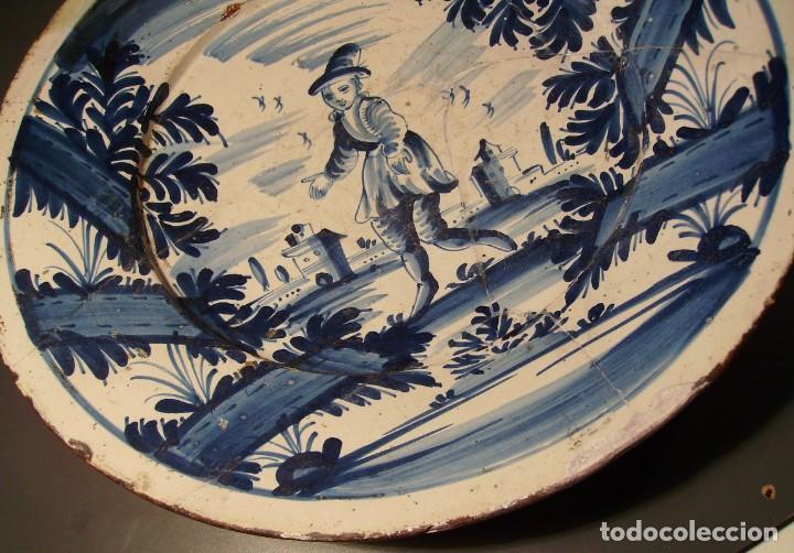 Antigüedades: ROTUNDO Y GRAN PLATO DE CERÁMICA CATALANA XVIII - Foto 8 - 171627918