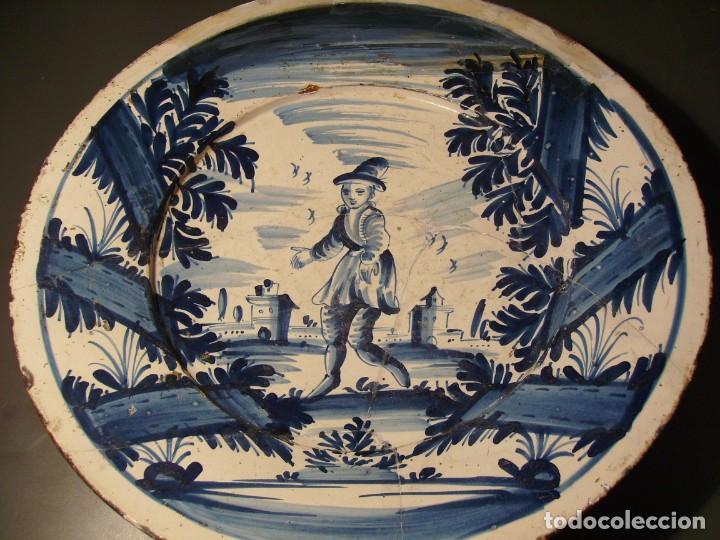 Antigüedades: ROTUNDO Y GRAN PLATO DE CERÁMICA CATALANA XVIII - Foto 9 - 171627918