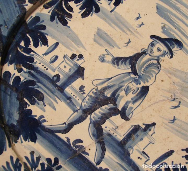 Antigüedades: ROTUNDO Y GRAN PLATO DE CERÁMICA CATALANA XVIII - Foto 13 - 171627918