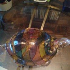 Antigüedades: PRECIOSA TORTUGA TAMAÑO CONSIDERABLE DE CRISTAL DE MURANO. Lote 171643433