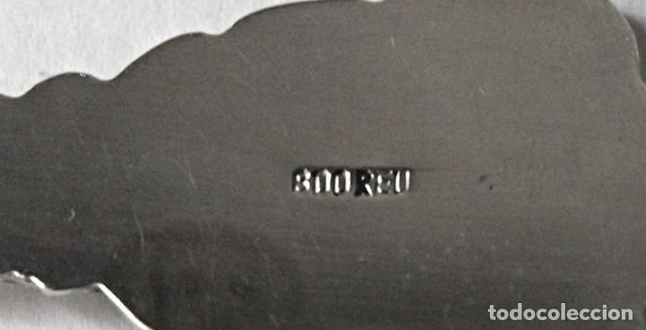 Antigüedades: CUCHARA CUCHARILLA BRUNNEN DE PLATA DE LEY 800 CONTRASTADA. 10 CM LARGO. 9,5 GRAMOS. VER FOTOS Y MAS - Foto 4 - 171650472