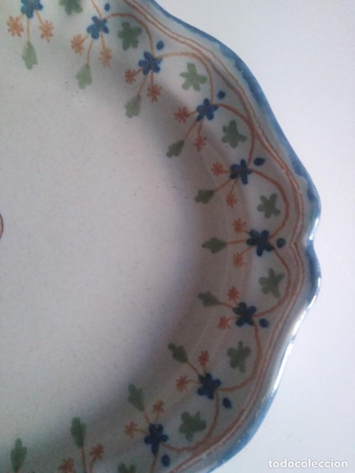 Antigüedades: Talavera, Ruiz de Luna, soberbia bandeja 40por 30 - Foto 3 - 171651673
