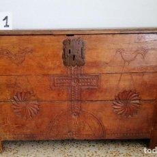 Antigüedades: ARCÓN ARCA VASCA SIGLO XIX. Lote 171651798