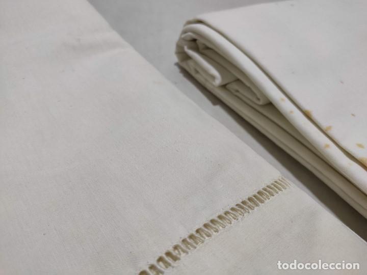Antigüedades: Tejido de lino antiguo - Foto 2 - 171659899