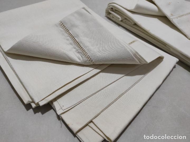 Antigüedades: Tejido de lino antiguo - Foto 3 - 171659899