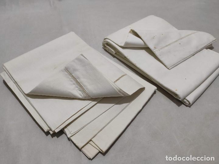Antigüedades: Tejido de lino antiguo - Foto 4 - 171659899