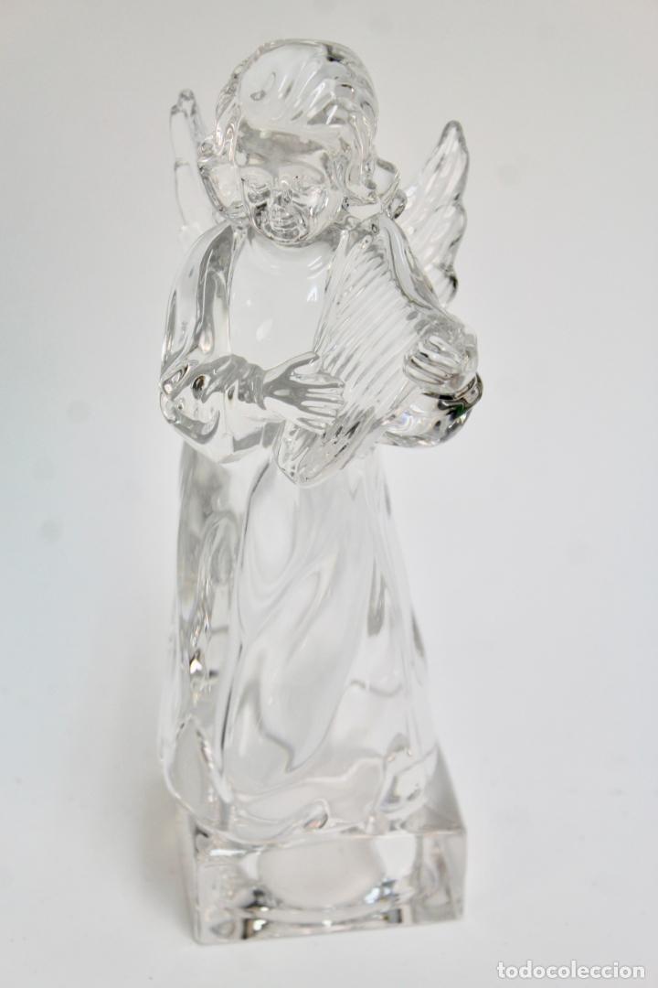 FIGURA DE CRISTAL, ANGEL CON ARPA. S.XX. (Antigüedades - Cristal y Vidrio - Otros)