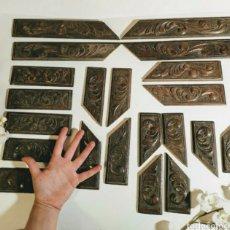 Antigüedades: LOTE 21 TALLAS DE MADERA ANTIGUAS ANTIQUE UNIQUE. Lote 171688314