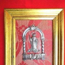 Antigüedades: RELICARIO VIRGEN SANTA ANA EN PLATA... Lote 171706019