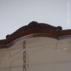 Antigüedades: ESPEJO DE TOCADOR CRISTAL BISELADO . Lote 171713617