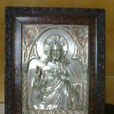 Antigüedades: SAGRADO CORAZÓN DE JESÚS REPUJADO. Lote 171716663