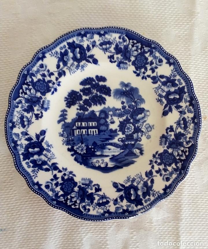 PLATO PORCELANA IRONSTONE- PROGRESSION. (Antigüedades - Porcelanas y Cerámicas - Inglesa, Bristol y Otros)