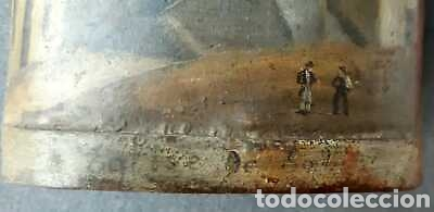Antigüedades: Cencerro antiguo 16 cm x 12 cm decorado - Foto 2 - 171723184
