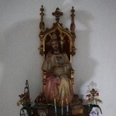 Antigüedades: CORAZÓN DE JESÚS (ENTRONIZADO). IMAGINERIA. Lote 171733627