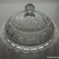 Antigüedades: MANTEQUILLERA. CRISTAL DE SANTA LUCIA. CARTAGENA, MURCIA.. Lote 171747727