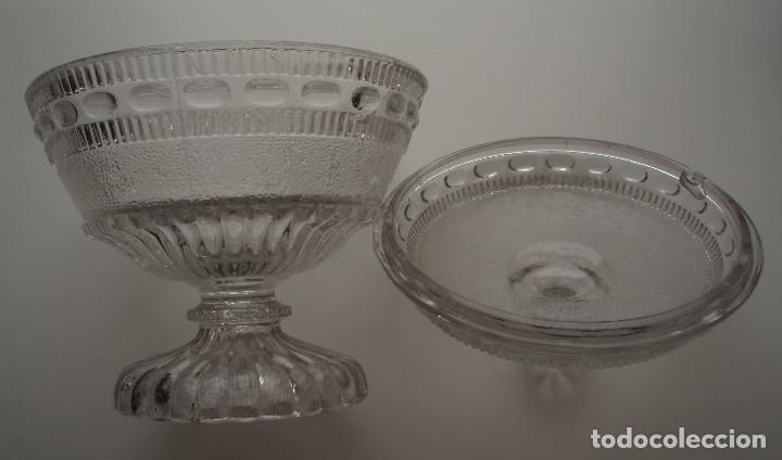 Antigüedades: COMPOTERA. CRISTAL DE SANTA LUCIA. CARTAGENA, MURCIA. - Foto 8 - 171748784