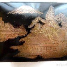 Antigüedades: ANTIGUA CAJA METAL – JAPÓN. Lote 171752163
