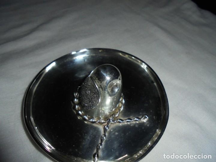 Antigüedades: SOMBRERO DE PLATA MARCADO MEXICO 925 - Foto 4 - 171753149