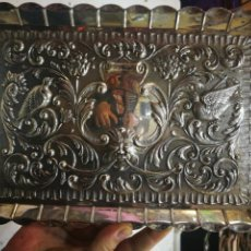 Antigüedades: PLATA BANDEJA DE PLATA DE LEY CON MARCAS DE PLATERO 265 GRAMOS ANTIGUA. Lote 171768073