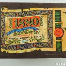 Antigüedades: PRECIOSA CAJA DE CARTON DE TURRONES 1880. DE LOS AÑOS 50-60 ESPAÑA. Lote 171773292