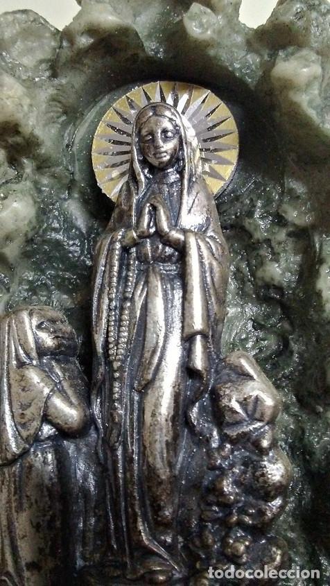 Antigüedades: AGUABENDITERA VIRGEN DE LOURDES - Foto 2 - 171774818