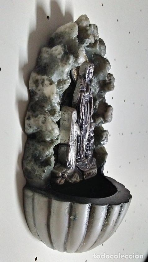 Antigüedades: AGUABENDITERA VIRGEN DE LOURDES - Foto 5 - 171774818