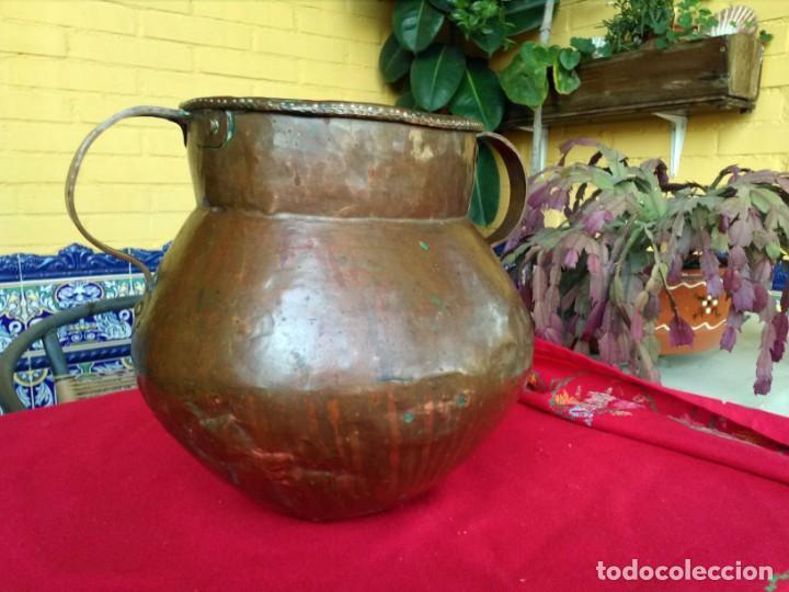 JARRÓN ANTIGUO DE COBRE (Antigüedades - Hogar y Decoración - Jarrones Antiguos)
