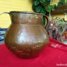 Antigüedades: JARRÓN ANTIGUO DE COBRE. Lote 171781509