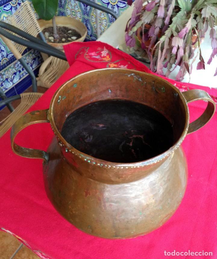 Antigüedades: Jarrón antiguo de cobre - Foto 3 - 171781509