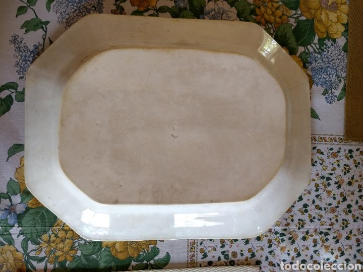Antigüedades: FUENTE OCHAVADA DE CERÁMICA CARTAGENA. SIGLO XIX. - Foto 4 - 171798784