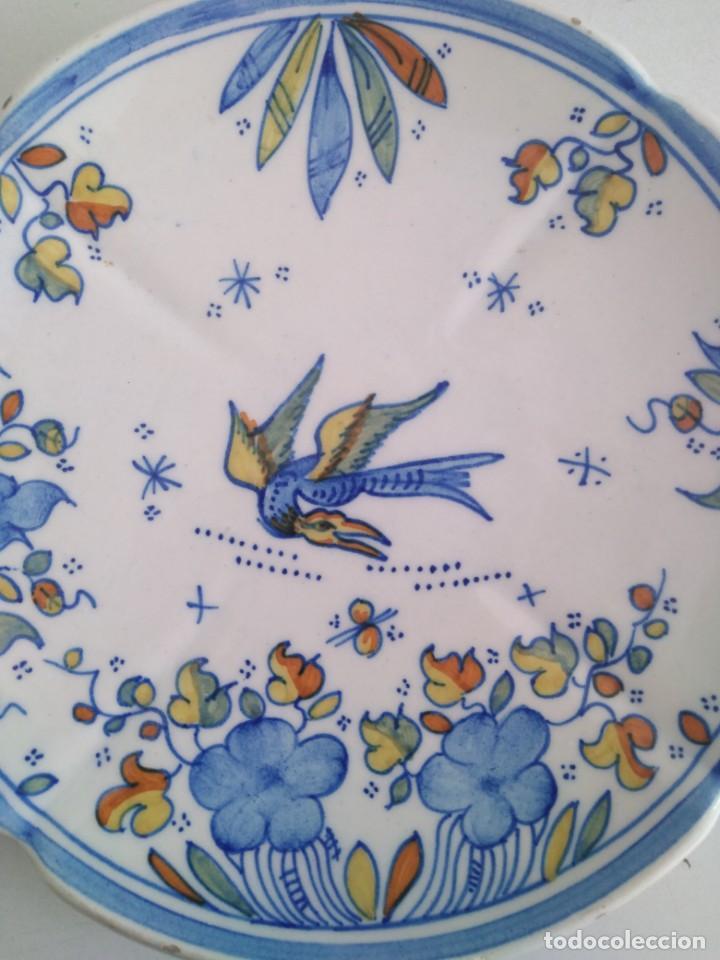 Antigüedades: Alcora-faitanar, precioso plato 20 cm diametro - Foto 2 - 171812387