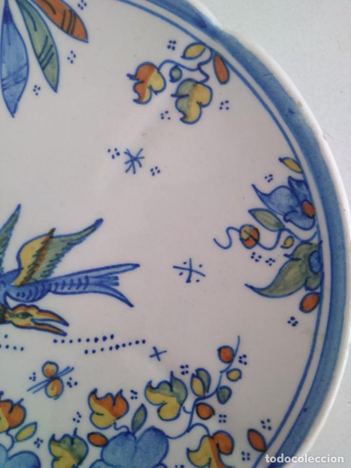 Antigüedades: Alcora-faitanar, precioso plato 20 cm diametro - Foto 3 - 171812387