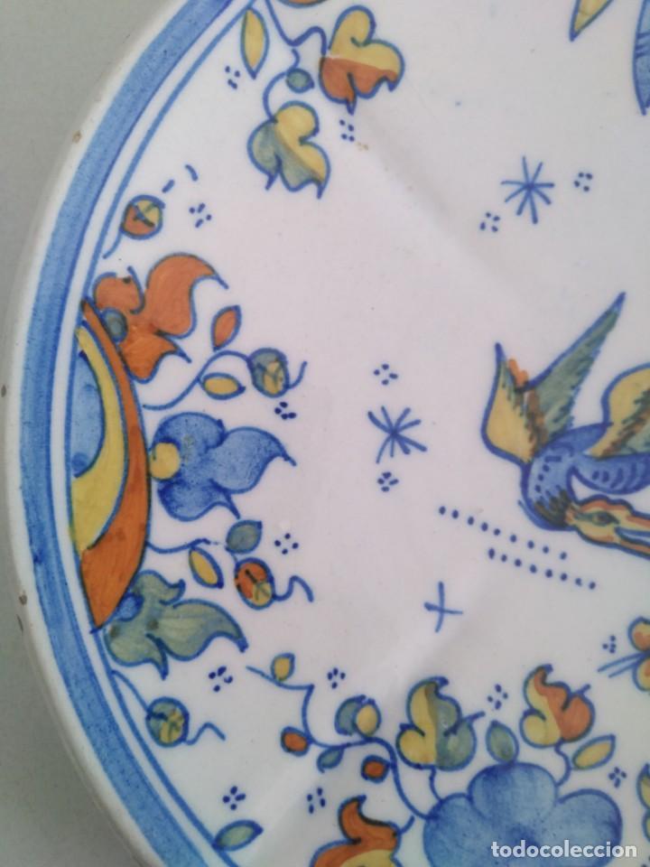 Antigüedades: Alcora-faitanar, precioso plato 20 cm diametro - Foto 4 - 171812387