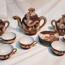 Antigüedades: JUEGO CAFÉ PORCELANA CHINA. Lote 171815902