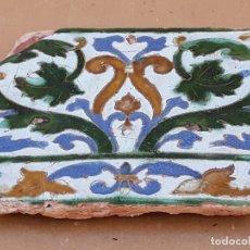 Antigüedades: AZULEJO ANTIGUO DE TOLEDO - TECNICA DE ARISTA - RENACIMIENTO - SIGLO XVI.. Lote 171834338