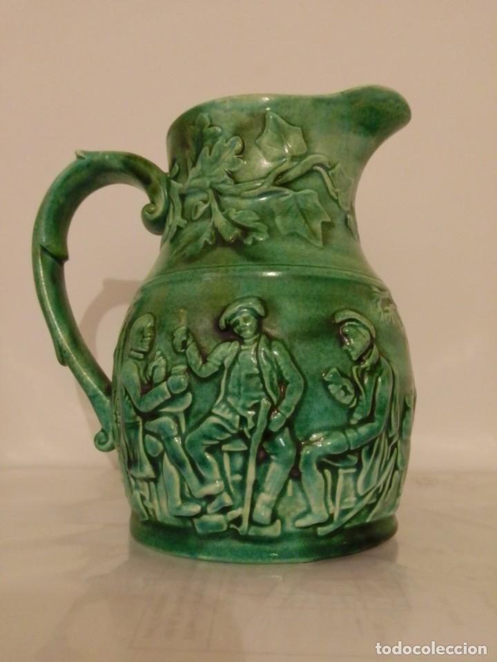 JARRA DE LOZA SAN CLAUDIO (Antigüedades - Porcelanas y Cerámicas - San Claudio)